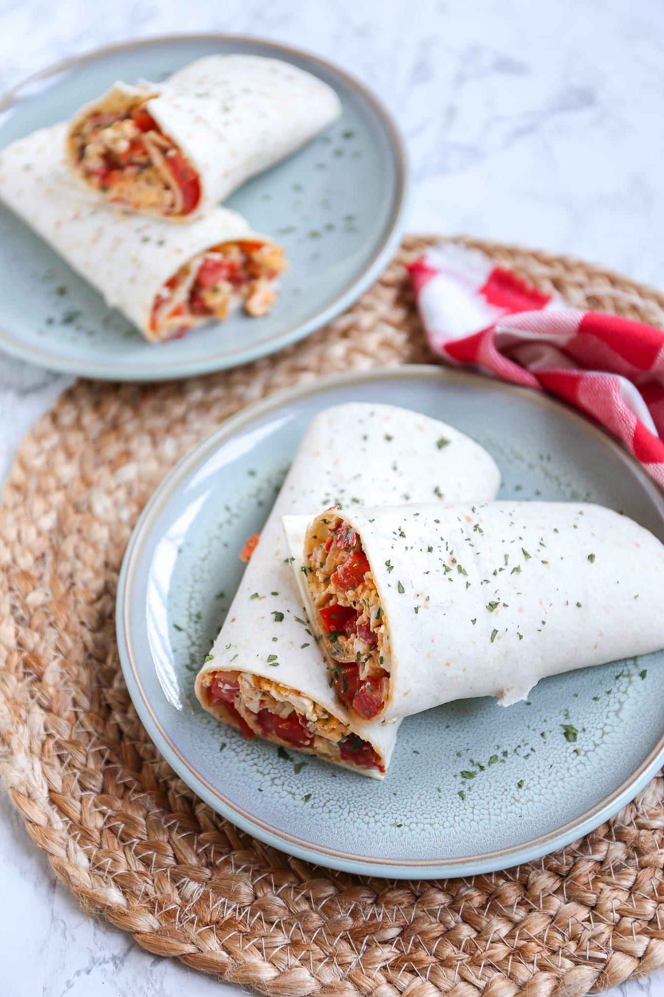 Lunchwrap met roerei en chorizo