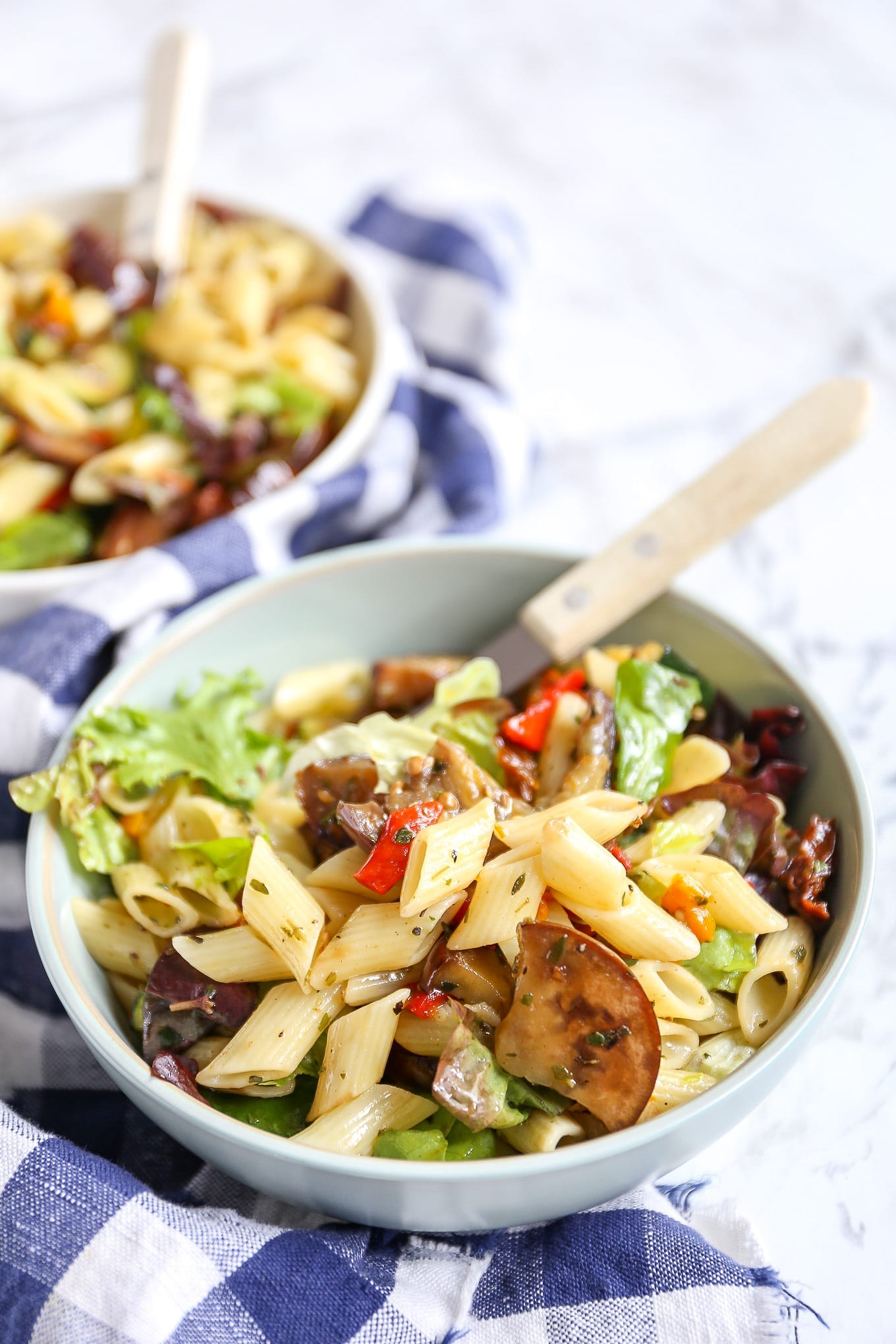Italiaanse pastasalade met courgette