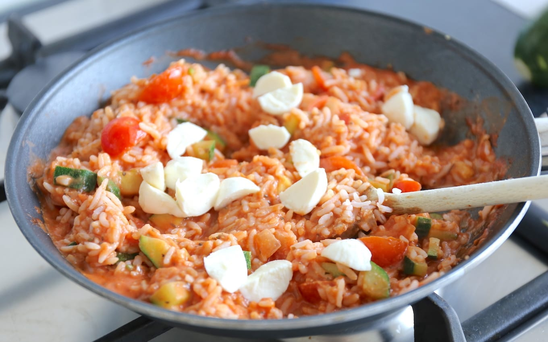 Romige caprese rijst