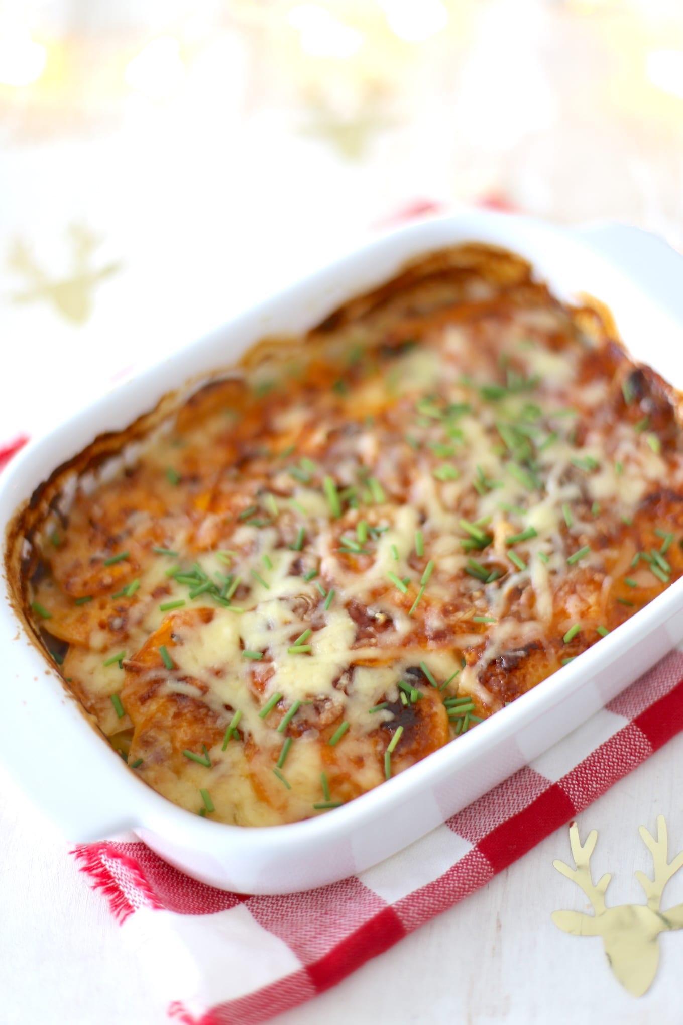 Zoete aardappel gratin