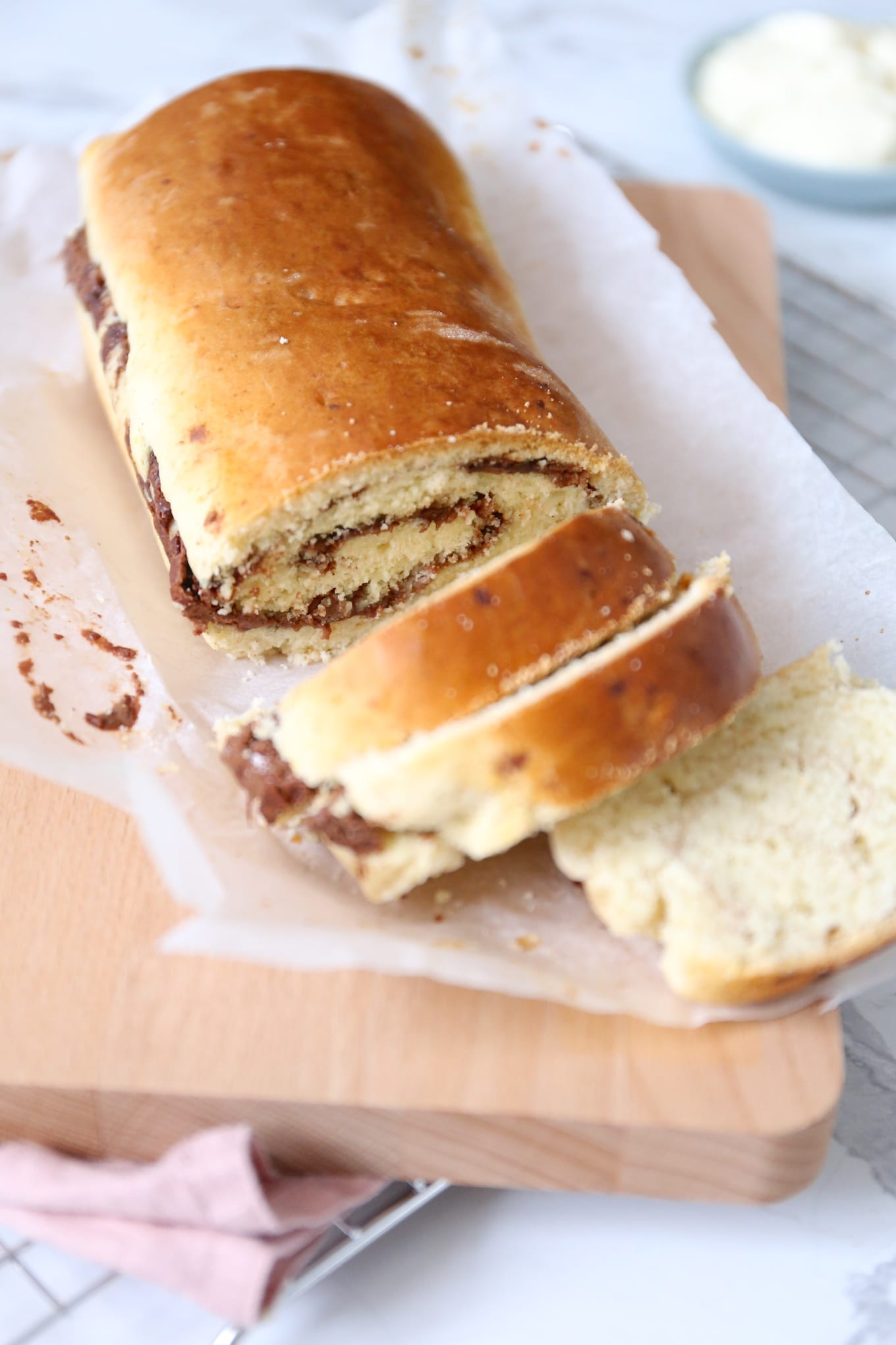 Chocolade-kaneel sconebrood
