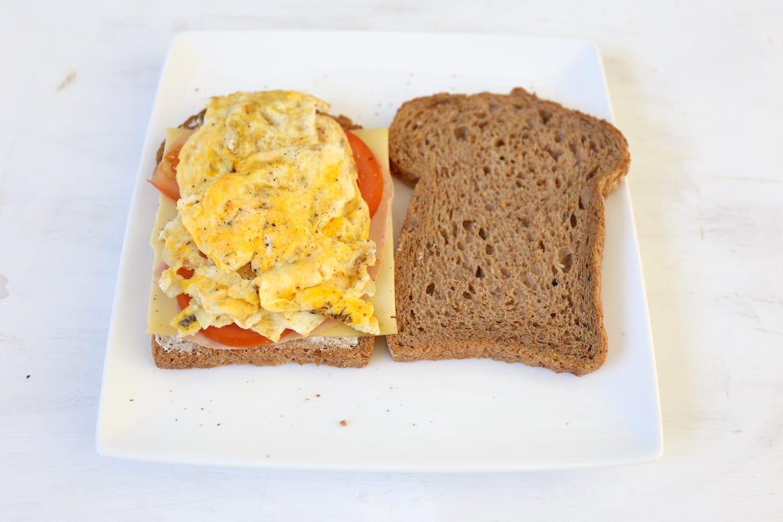 Tosti omelet met ham