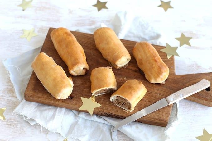 Zelfgemaakte worstenbroodjes