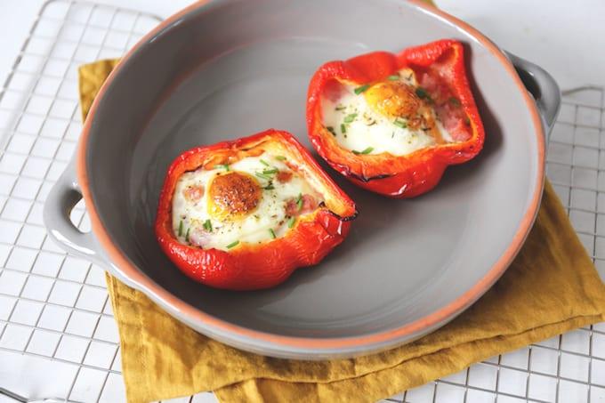 Gevulde paprika met ei