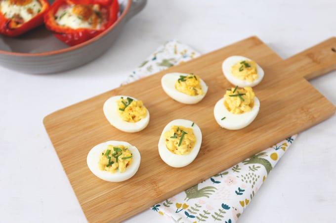Gevulde eieren met kerrie