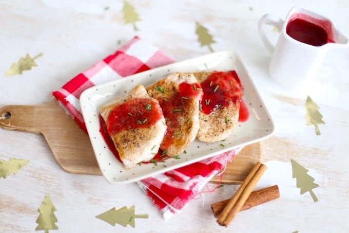 Kalkoen met cranberrysaus