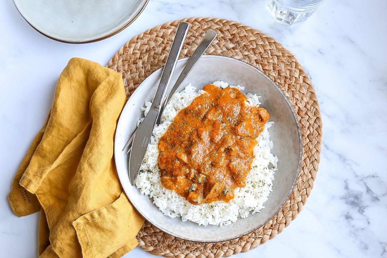 Butter chicken met rijst