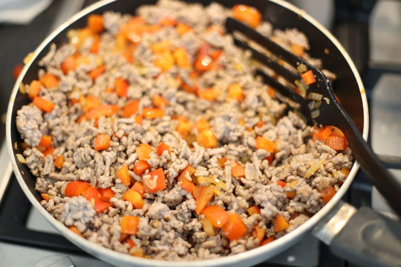 Wraps met gehakt uit de oven