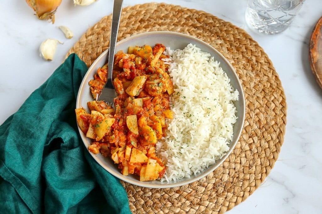 Bloemkoolcurry met aardappel