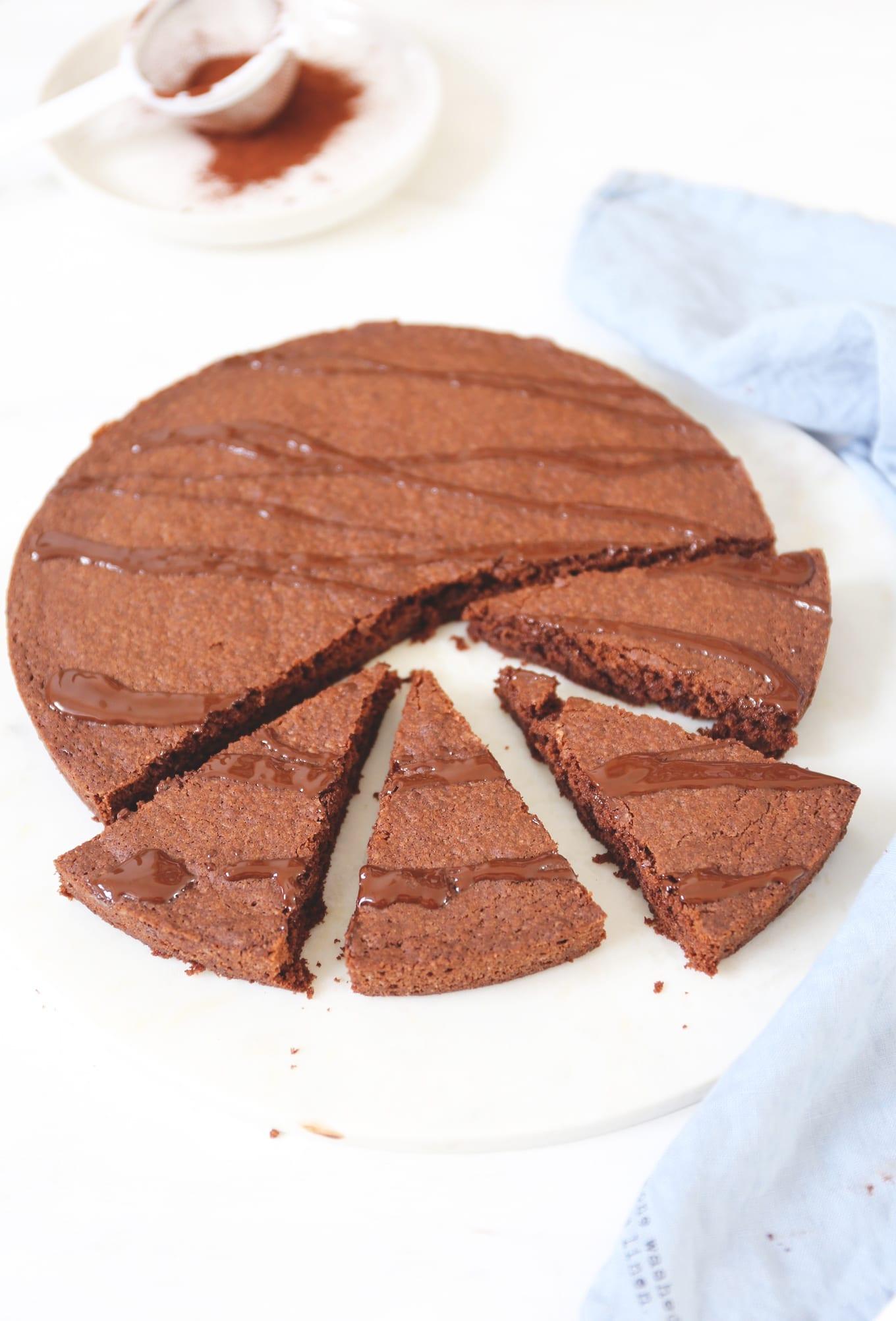 Zweedse chocolade taart