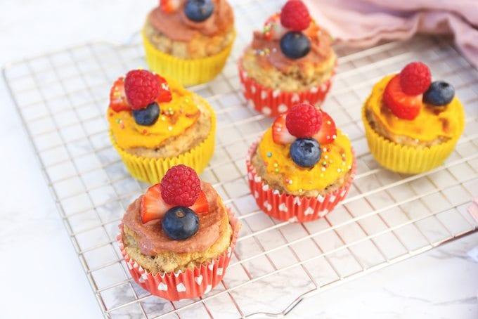 Verantwoorde kindertraktatie: bananenbrood muffins met Fruit & Groente Spread