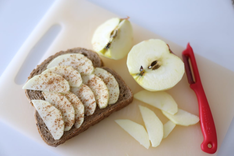 Appel kaneel tosti