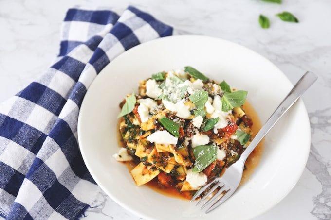 Lasagnette met mozzarella