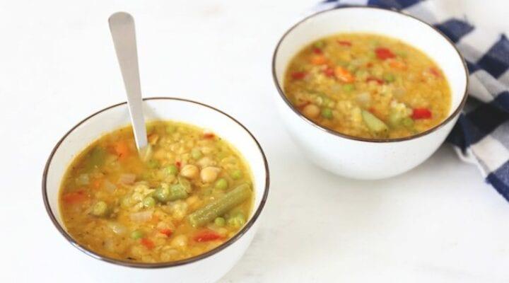 Kikkererwten groentesoep