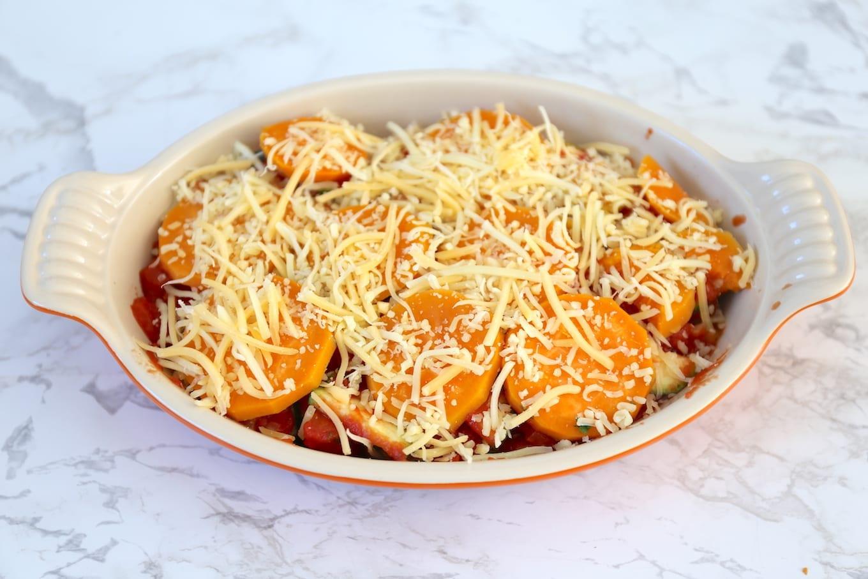 Lasagne met zoete aardappel