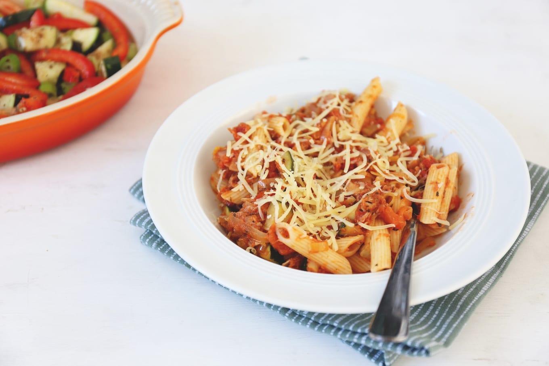 Pasta met tomaat en tonijn