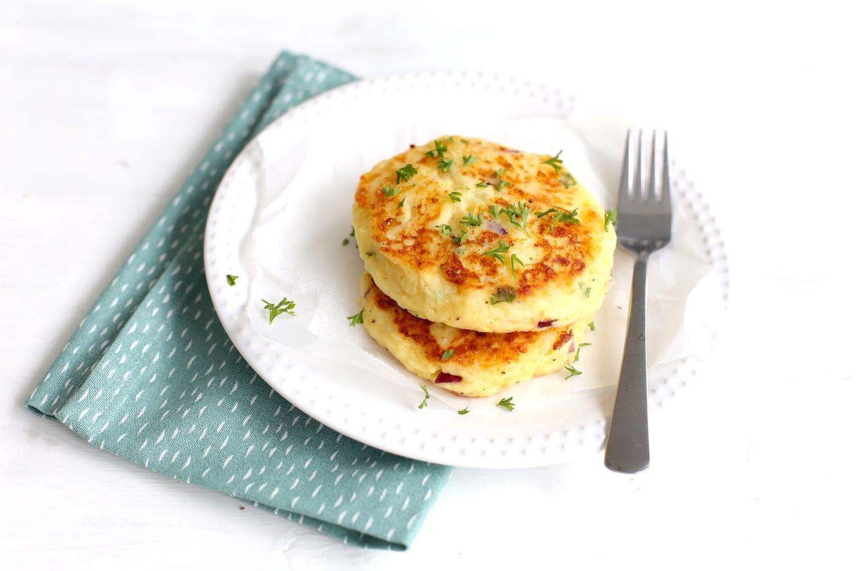 Aardappelkoekjes met kaas