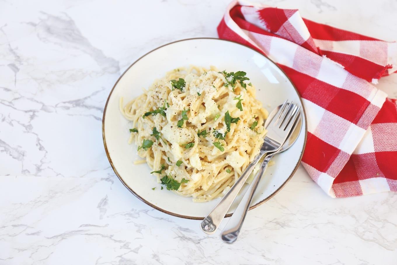 Romige pasta met bloemkool