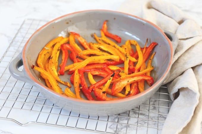Geroosterde paprika's uit de oven