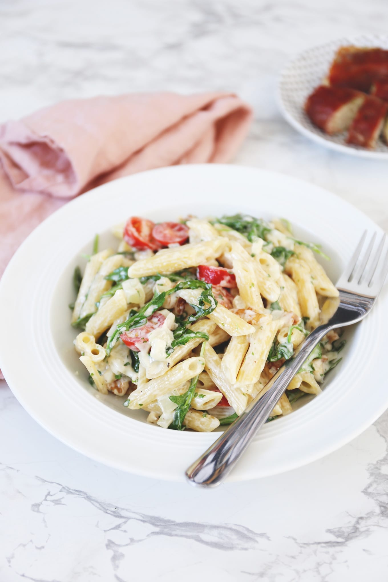 Pasta met gorgonzola en walnoten