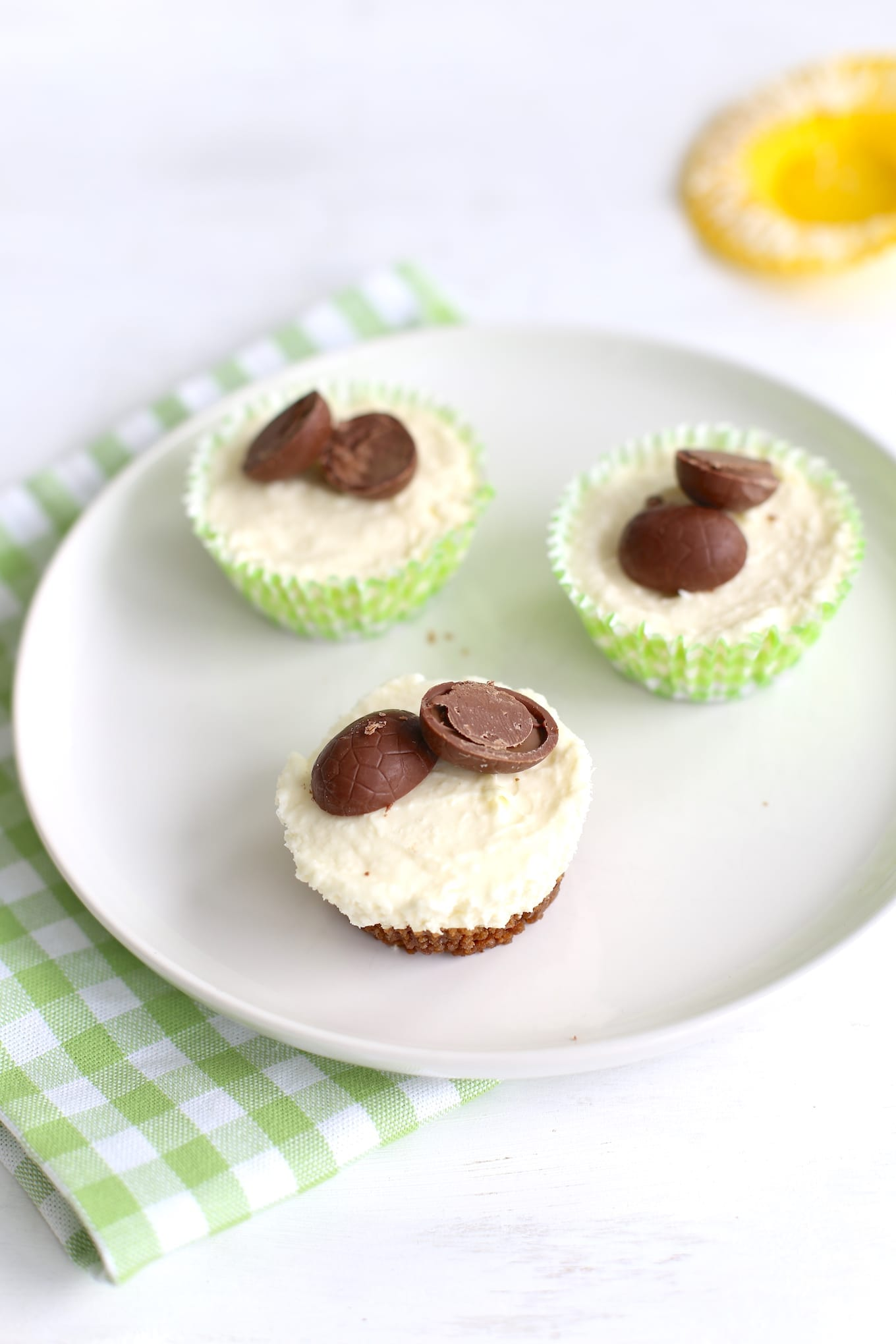Mini paas-cheesecakes