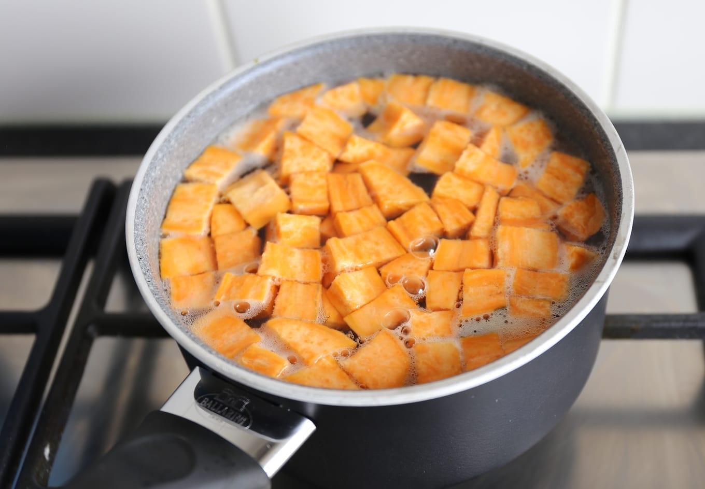 Wraps met zoete aardappel en bonen