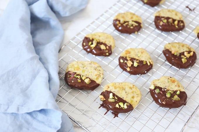 Pistasche shortbread koekjes