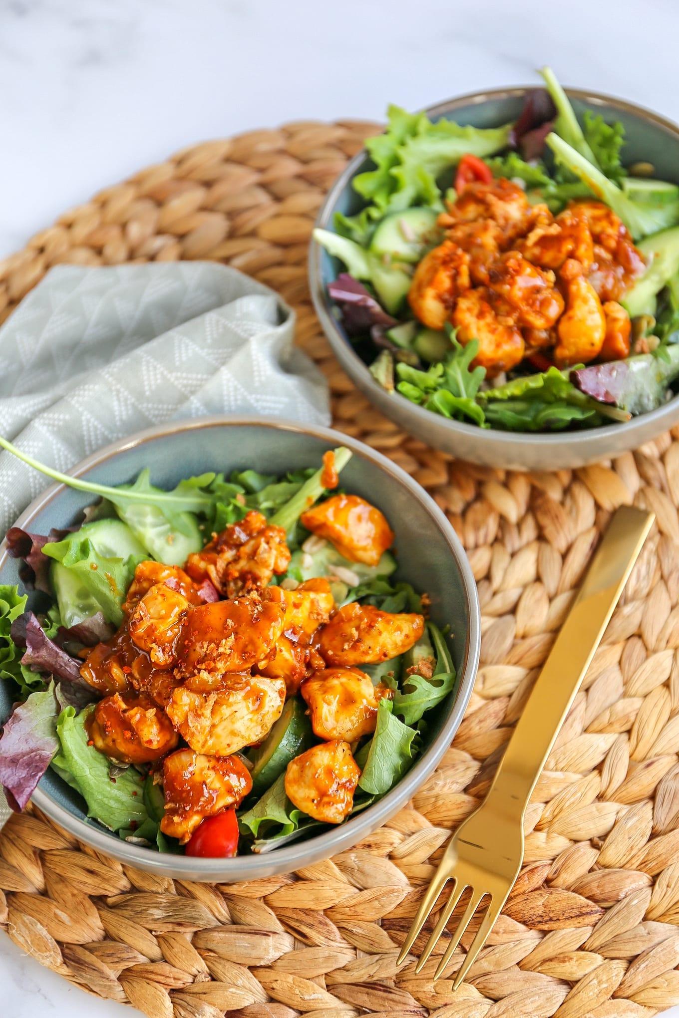 Salade hete kip