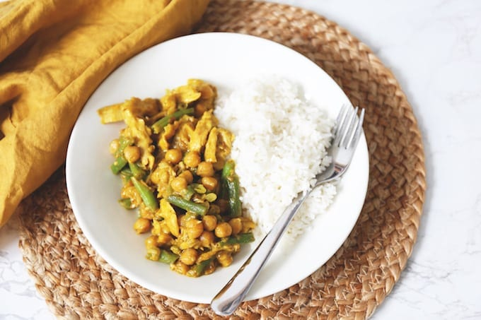 Vegetarische curry met kikkererwten