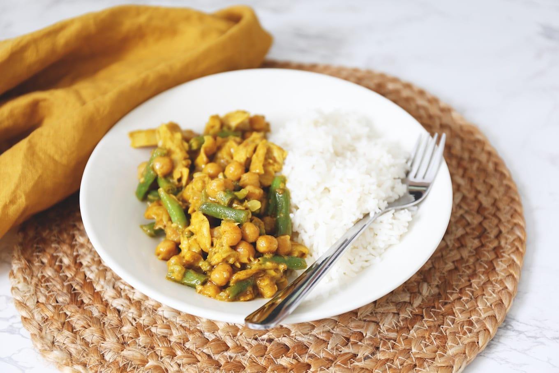 Vegetarische curry met kikkererwten
