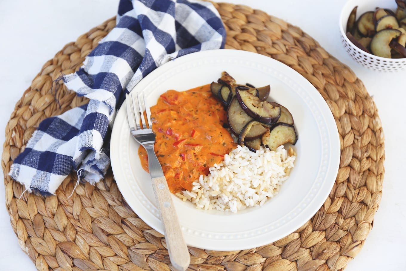 Curry met aubergine