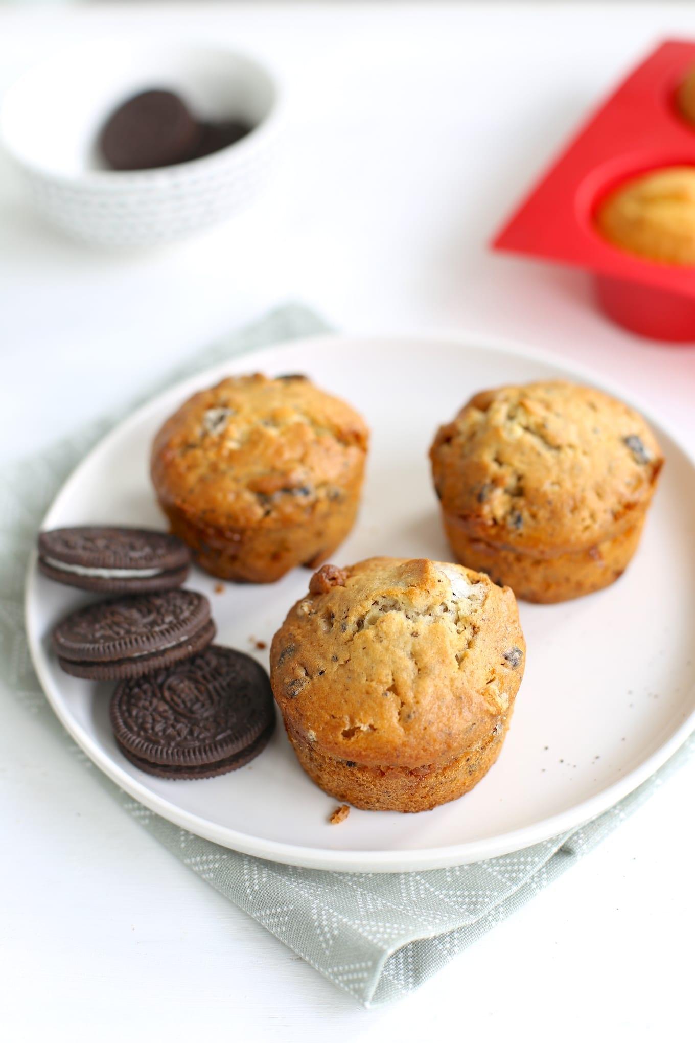 witte chocolade-oreo muffins