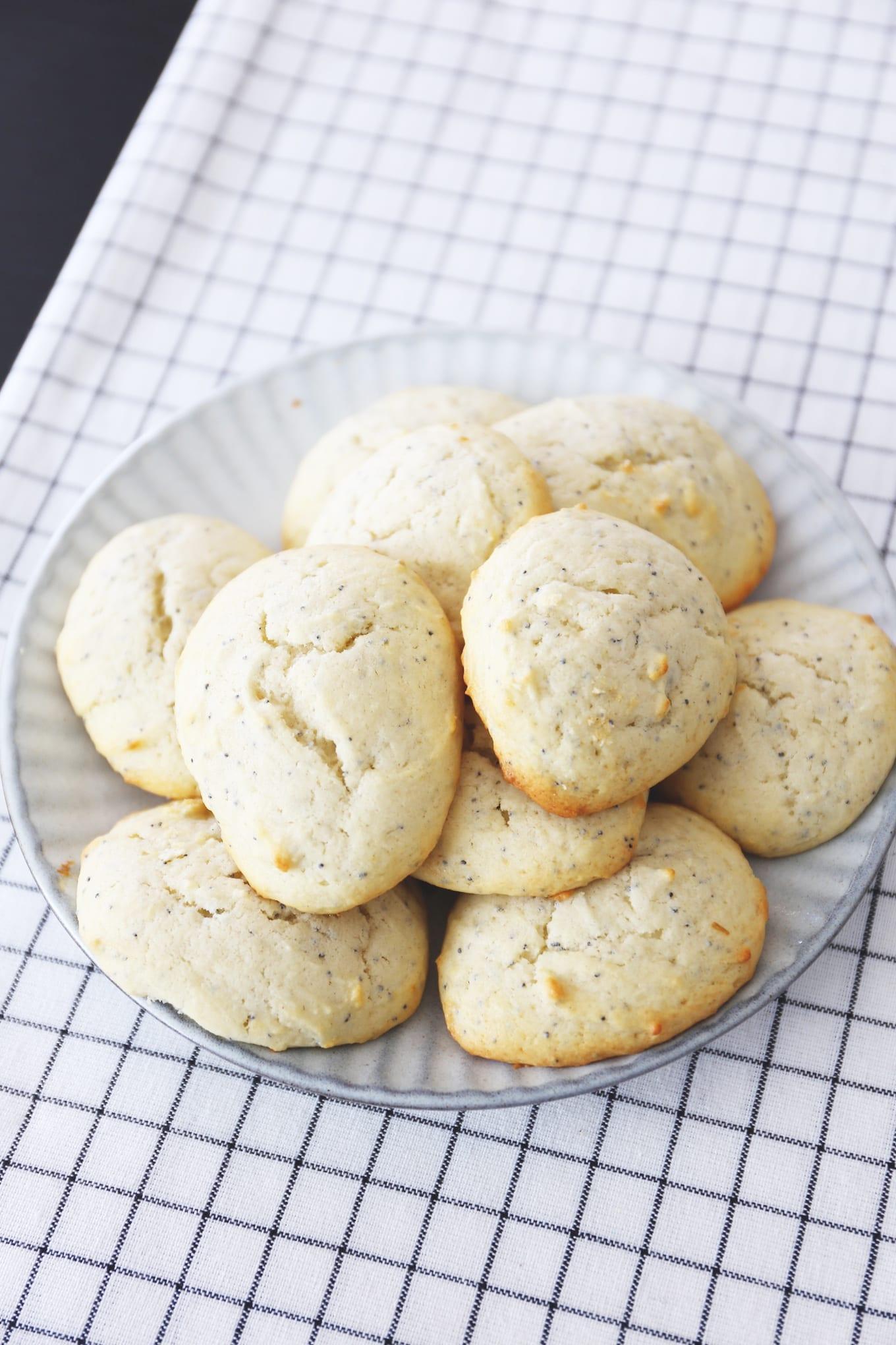 Citroen maanzaad ricotta koekjes