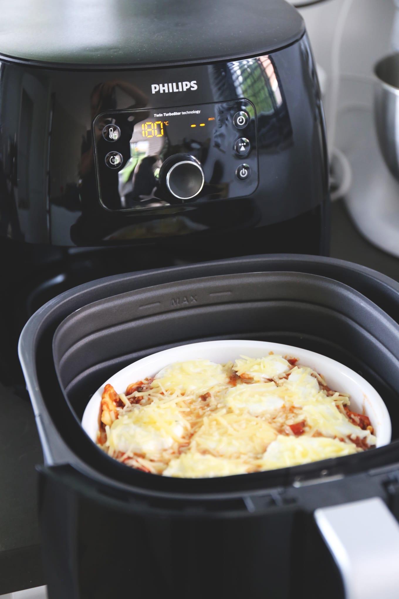 Lasagne bolognese met ravioli