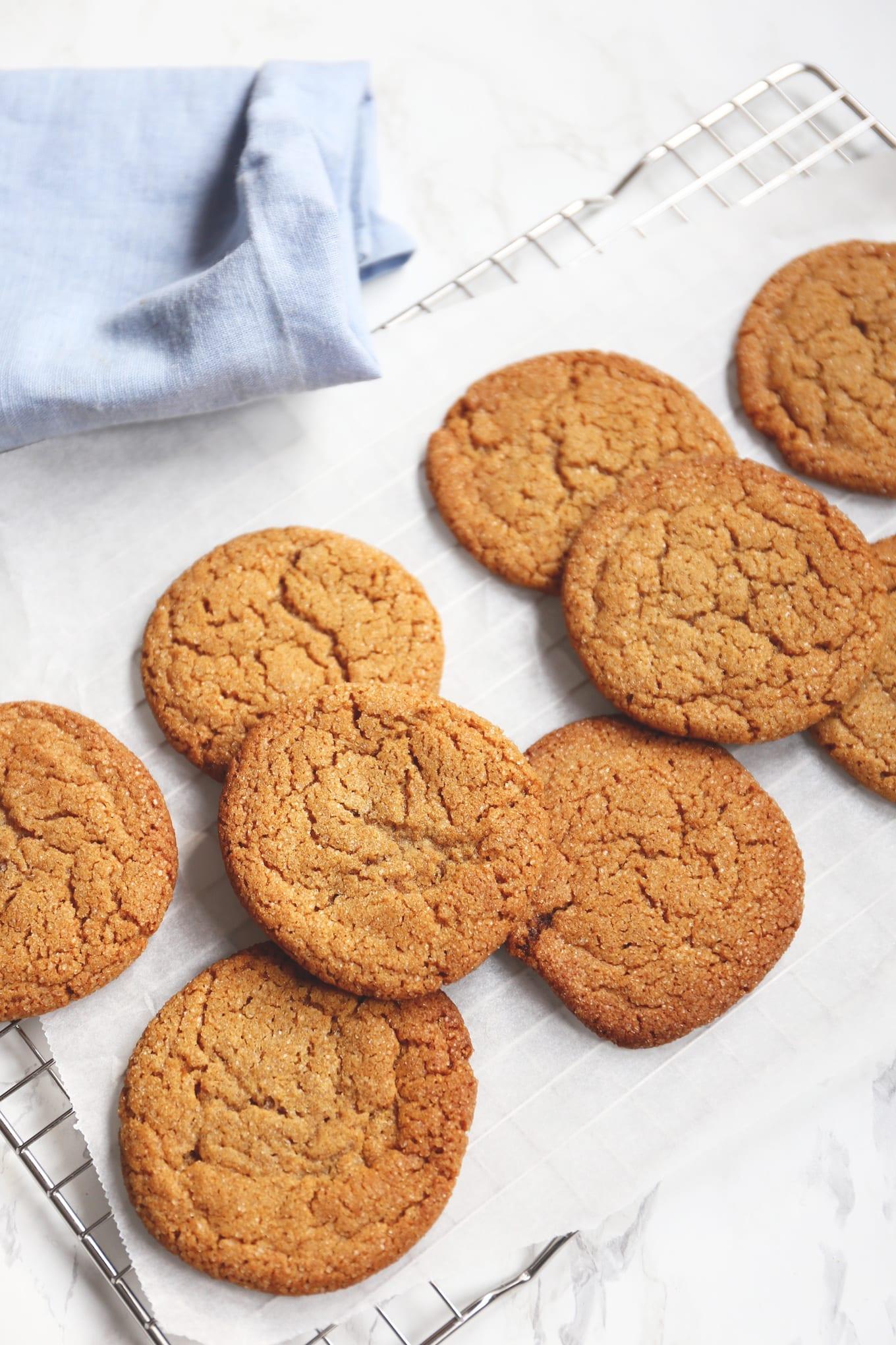 Gember koekjes met gebruine boter