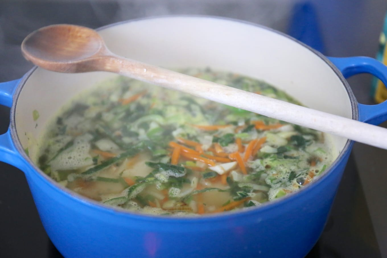 Kippensoep met rijst
