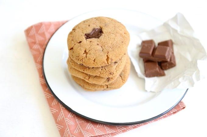Cacao-kaneelkoekjes met pure chocolade