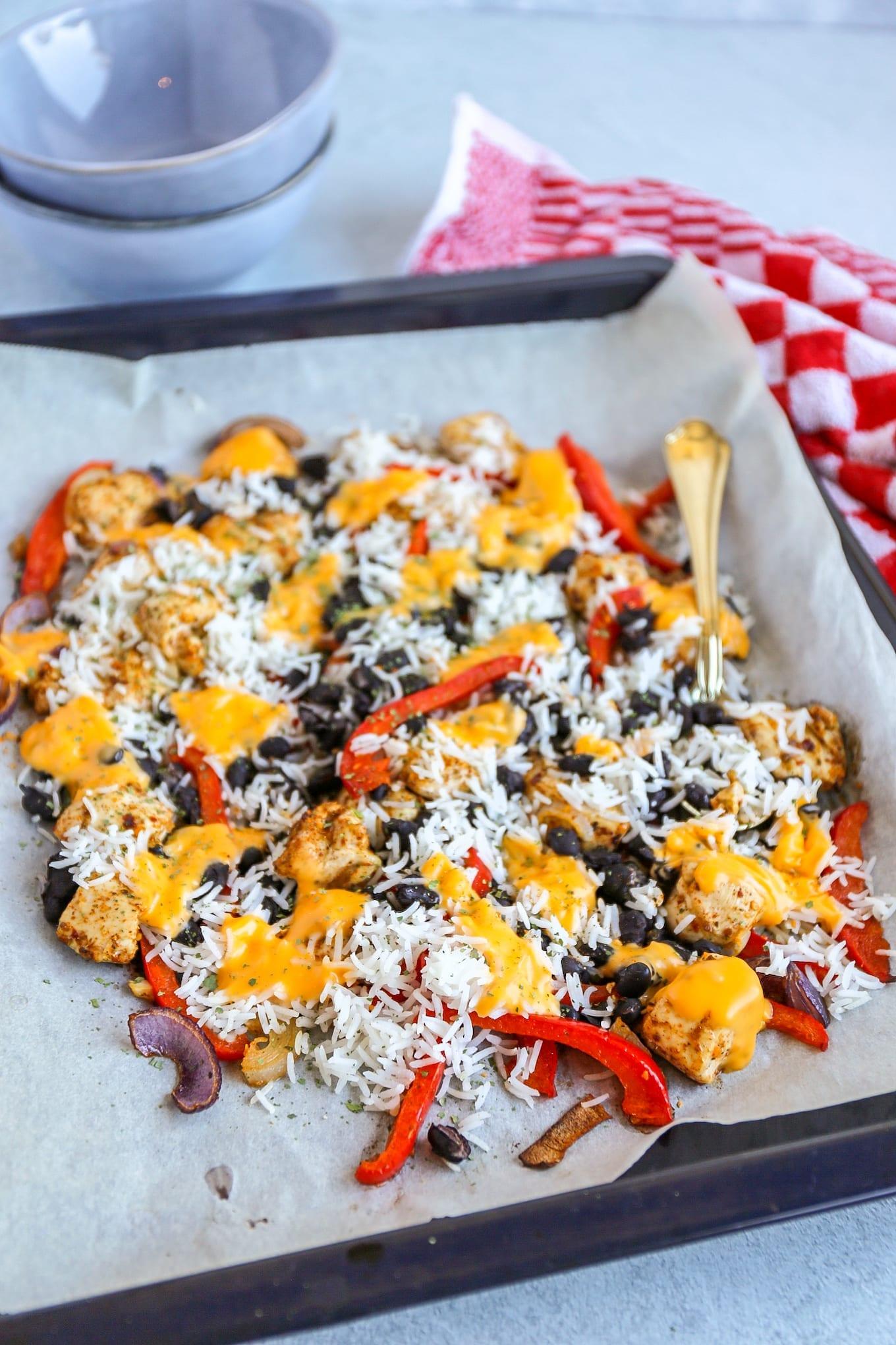 Mexicaanse ovenschotel met kip