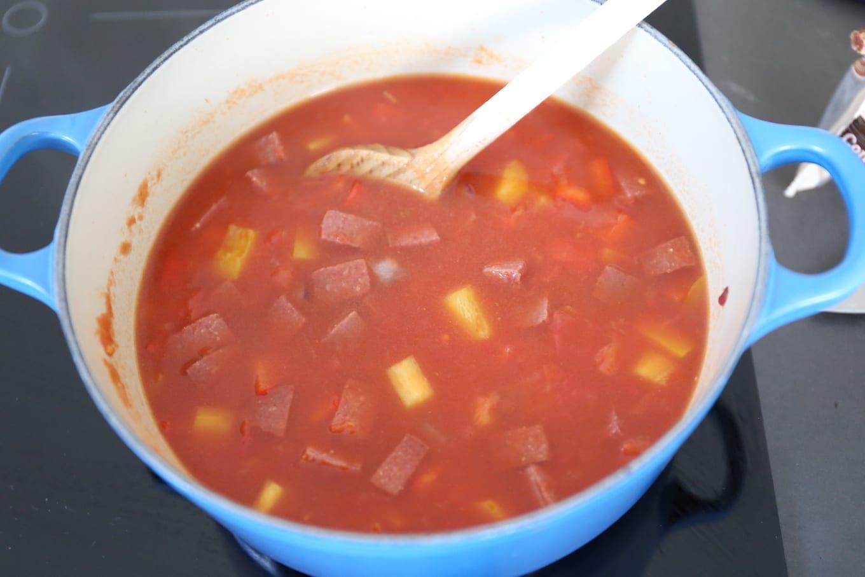 Spaanse tomatensoep