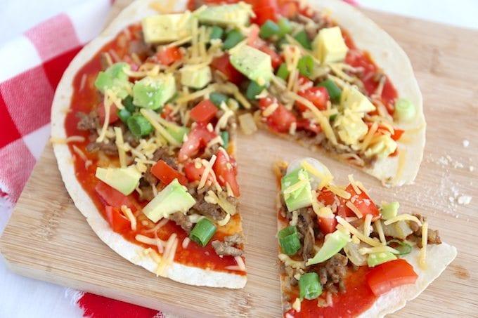 Pan pizza met gehakt