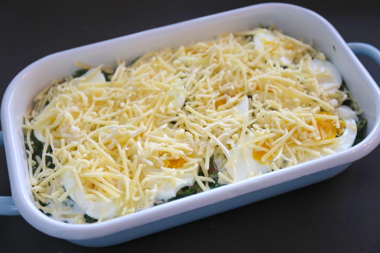 Spinazie-ovenschotel met ei