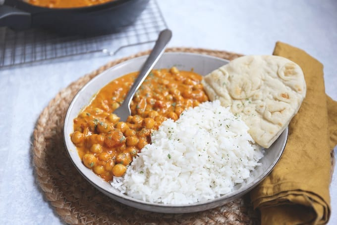 Vegetarische kikkererwten masala