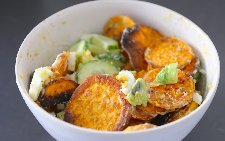 Pitabroodjes met zoete aardappel en avocado