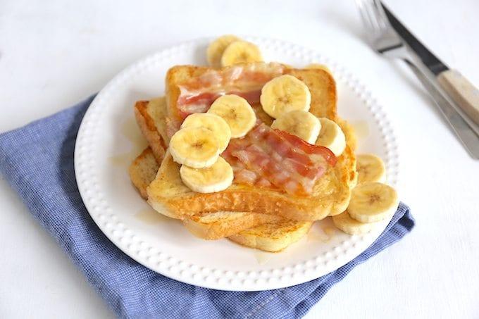 Wentelteefjes met bacon en banaan
