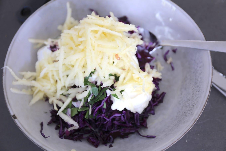 rode kool salade maken