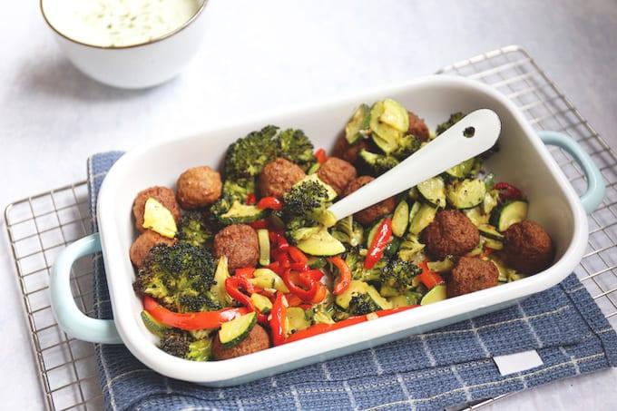 Ovenschotel met broccoli, courgette en paprika