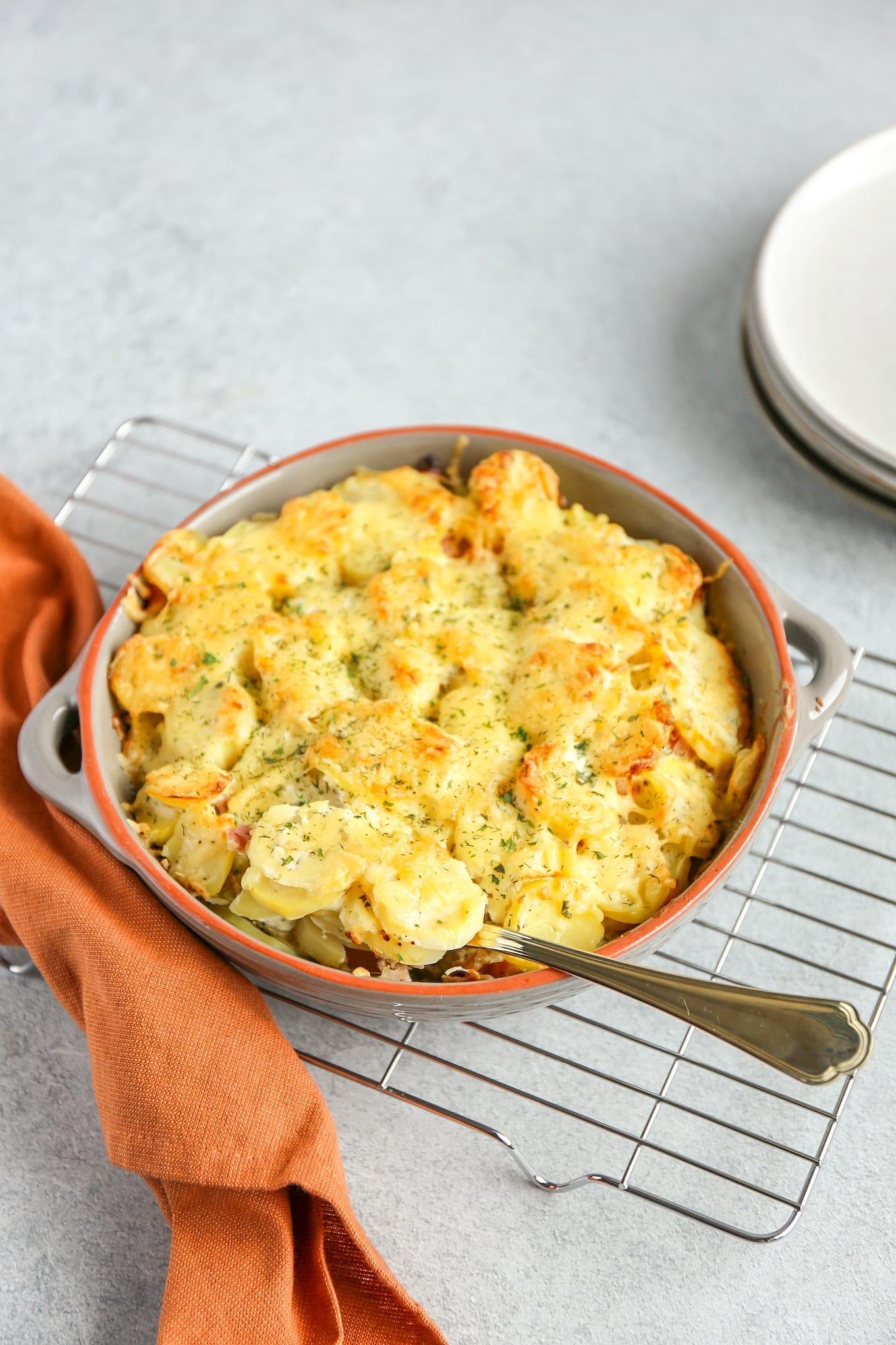 Aardappel ovenschotel met dille