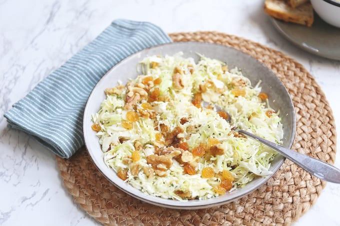 Spitskool salade met feta