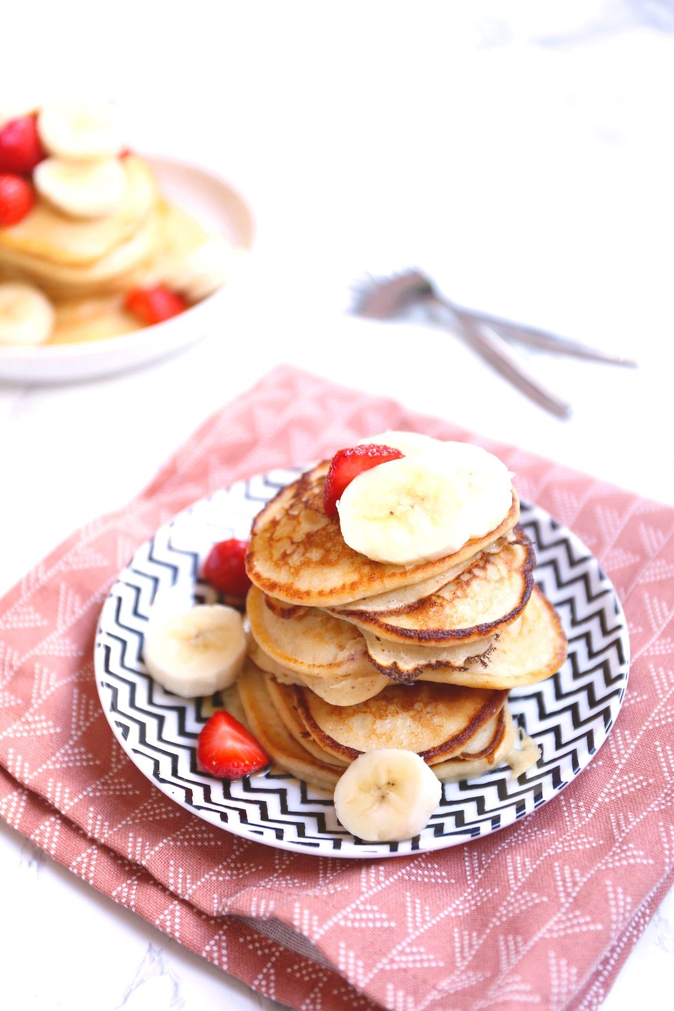 Ricotta pannenkoekjes met fruit
