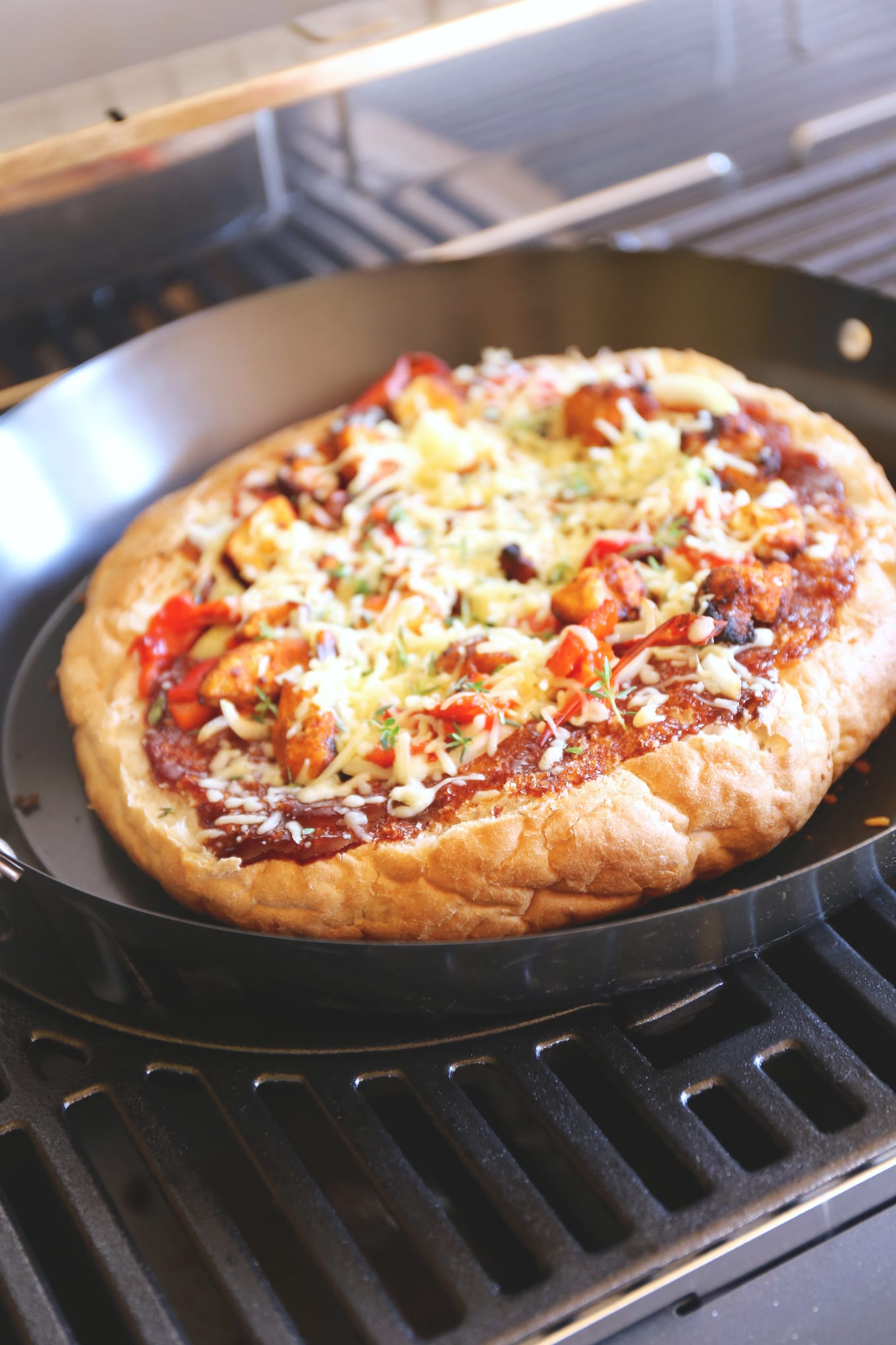 Pizza van de BBQ